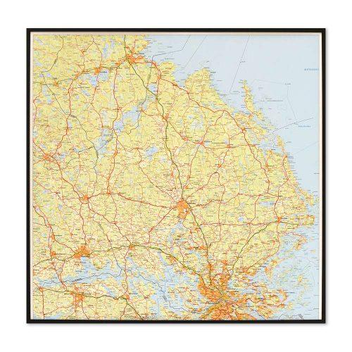 karta-över-uppsala-för-vägg-markering-med-nålar