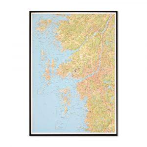 stor-karta-over-goteborg-och-kusten-for-nalar-svart-ram