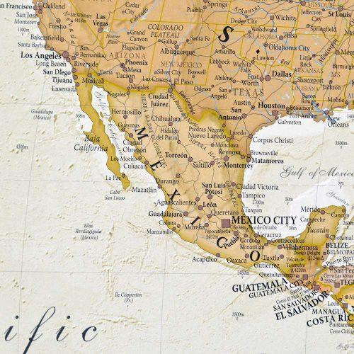 världskarta för kartnålar bild över mexico