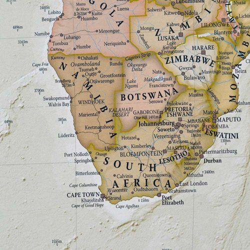 världskarta för nålar bild afrika