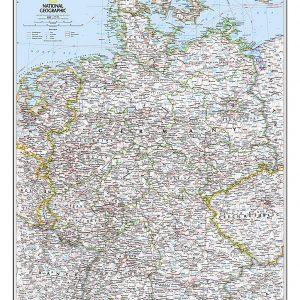 Stor karta över Tyskland för nålar national geographic 9780792249672