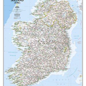 Stor karta för väggen över Irland från National geographic 9781597752558