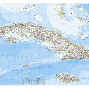 Stor karta över Kuba för nålar 9781597754378