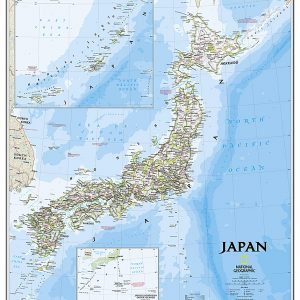 Stor karta över Japan för nålar 9781597754934