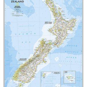 Stor karta över New Zealand för nålar