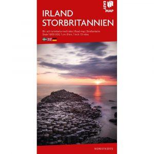 karta-bil-och-turistkarta över Irland och Storbritannien-9789113083452