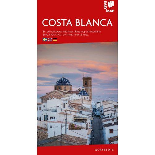 Bil- och turistkarta över Costa Blanca-9789113083582
