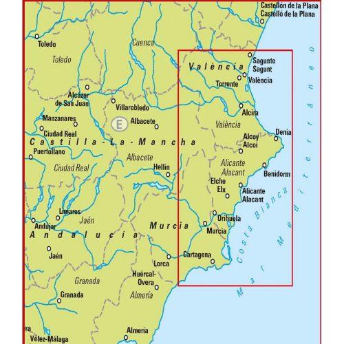 Bil- och turistkarta över Costa Blanca i skala-9789113083582