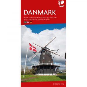 Bil- och turistkarta över Danmark-9789113083230-kartkungen