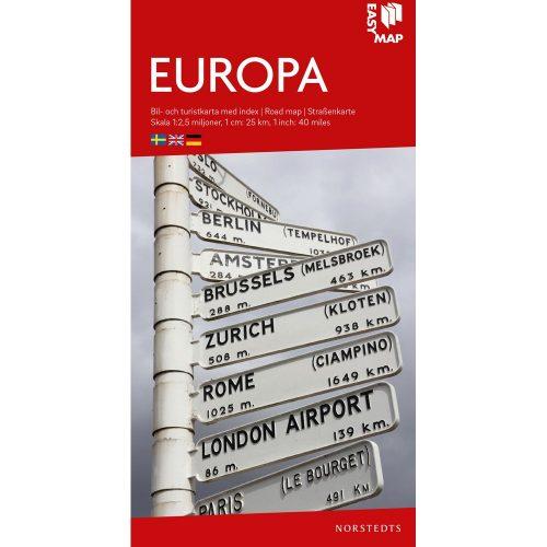 Bil- och turistkarta över Europa i skala-easymap-9789113083247