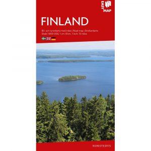 Bil- och turistkarta över Finland-9789113083254