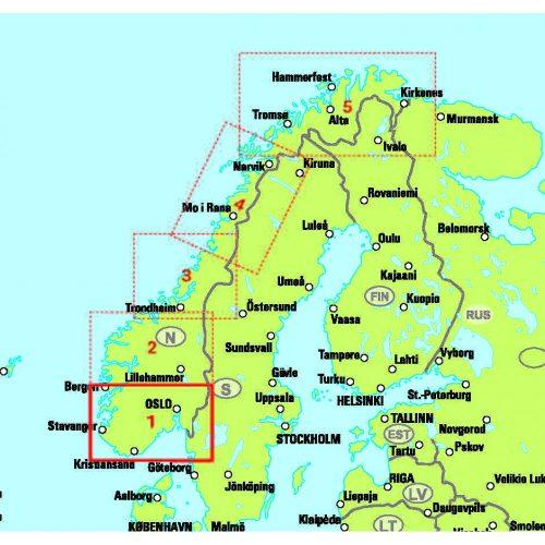 Bil- och turistkarta över del av Norge-9789113083353_1-1000x1000