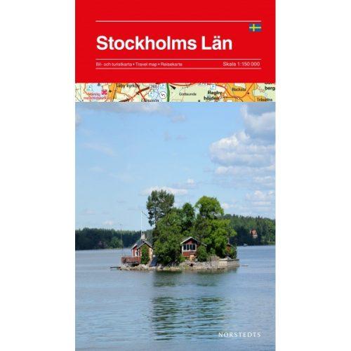 Bilkarta och turistkarta över Stockholms län 9789113069197