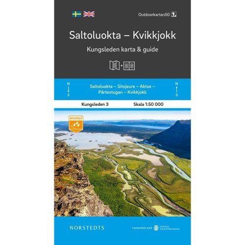 Kungsleden 3 Saltoluokta Kvikkjokk karta och guide Outdoorkarta framsida 9789113100876