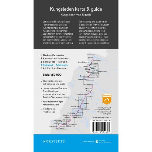 Kungsleden 4 Kvikkjokk Adolfström karta och guide Outdoorkartan baksida 9789113100883