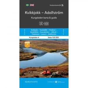 Kungsleden 4 Kvikkjokk Adolfström karta och guide Outdoorkartan framsida 9789113100883