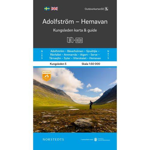 Kungsleden 5 Adolfström Hemavan karta och guide fjällkarta framsida 9789113100890