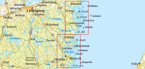 Outdoorkarta 21 Arkösund-Gryt-Västervik