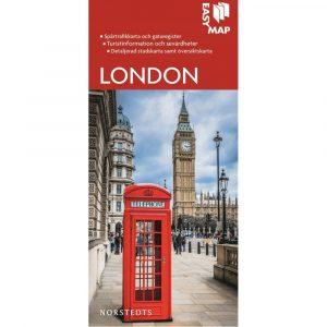 Stads- och turistkarta över London Easymap 9789113076201