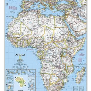 Stor karta över Afrika från National geographic för nålar 9780792281030
