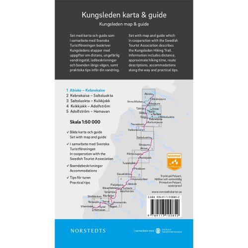 karta och guide Kungsleden 1 Abisko Kebnekaise outdoorkarta baksida