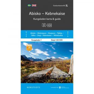 karta och guide Kungsleden 1 Abisko Kebnekaise outdoorkarta framsida