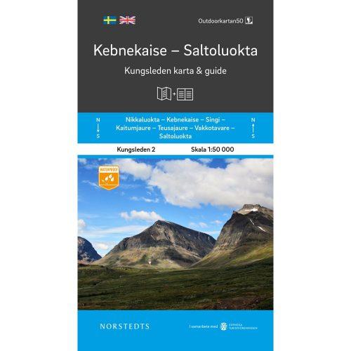 karta och guide Kungsleden 2 Kebnekaise Saltoluokta Outdoorkarta framsida