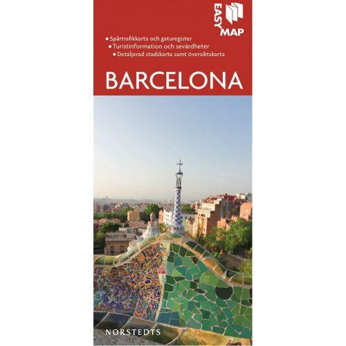 stads-och turistkarta över Barcelona Easymap-9789113076355