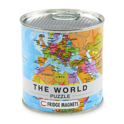 Pussel Världskarta med magneter för kylskåpet 4260153728534