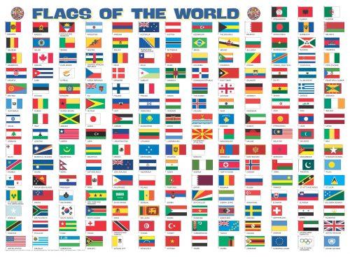 Pussel Flaggor över länder för kylskåpet 4260153734528_1