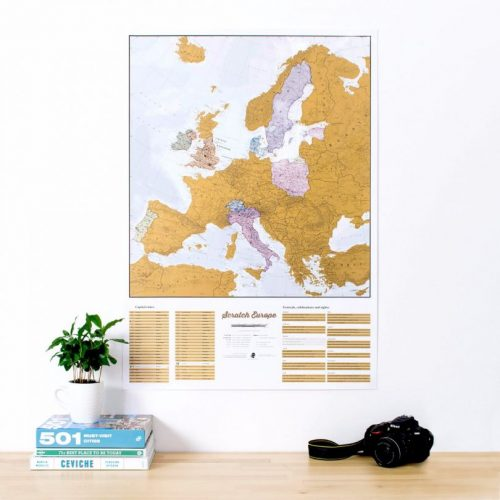 Skrapkarta över Europa 60 x 85 cm 9781910378632