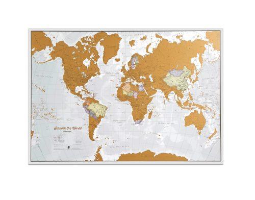Skrapkarta över Världen 85 x 60 cm 9781910378953