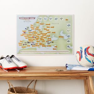 Skrapkarta över Europeiska fotbollsarenor 9781912203406