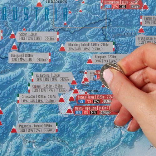 Skrapkarta över Alperna