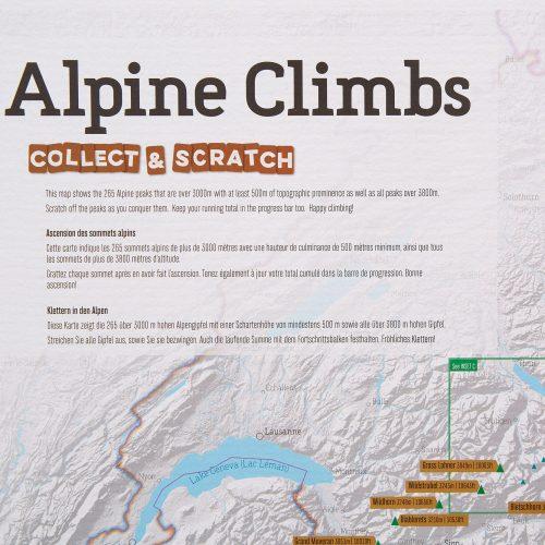Skrapkarta över Alperna för klättraren 9781912203659