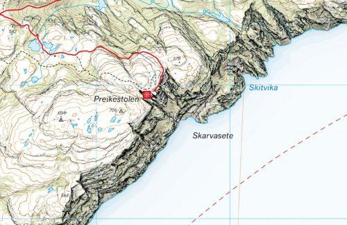bild karta preikestolen