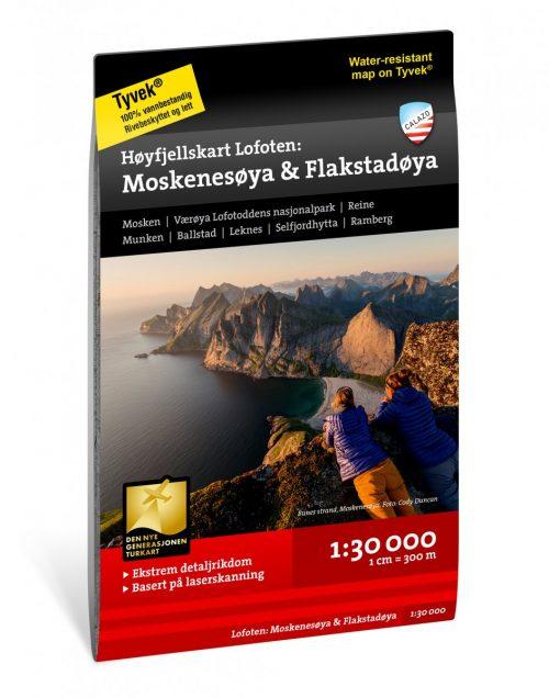 hoyfjellskart-lofoten-moskenesoya-flakstadoya-130-000