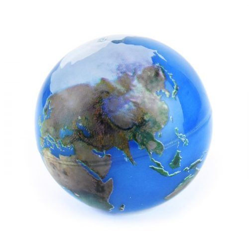 Studsboll världen BOUNCING BALL EARTH 6.5cm