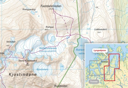 tur-og-toppturkart-lyngsalpene-150-000