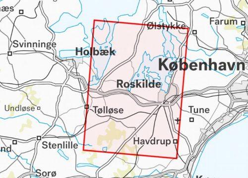 Friluftskort Roskilde & Nationalpark Skjoldungernes land